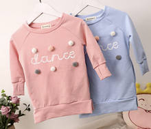 2018 Autumn Winter Toddler Kids Girls School Long Sleeve Tops Party Princess Warm Dress Sweatshirt Casual Clothes 80CM-120CM(China)