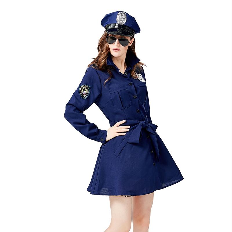 policial policial traje de halloween adulto feminino
