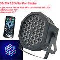 2020 新 LED フラットパー 36 × 3 ワット RGB 色照明ストロボ Dmx 雰囲気のディスコ DJ 音楽パーティークラブダンスフロアバー暗く