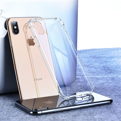 Shockproof Clear Soft Fitted Cases For iPhone X 8 7 6s 6 Plus 10 5S Case Transparent Silicone Phone Back Cover for iphone 7 case Pakistan