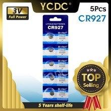 2020 promoção 5pcs 3v cr927 cr 927 relógio, bateria de lítio botão células pilas para calculadores computadores de brinquedos,