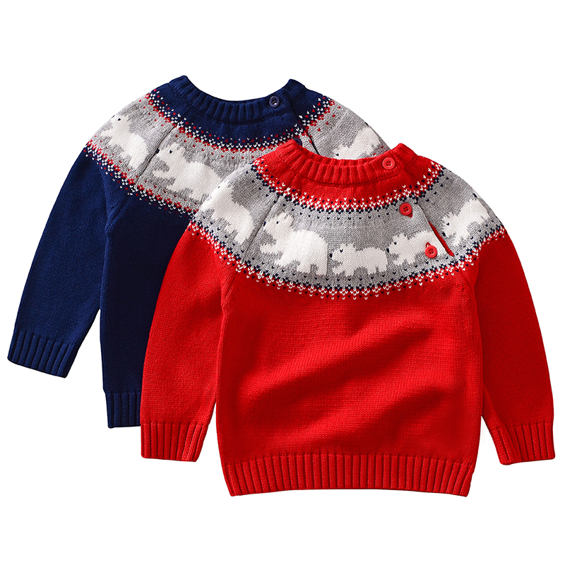 Christmas Baby Boys Girls Sweaters Winter 19 Toddler Baby Clothes With Deer Kids Christmas Sweater Embroidery Pull Fille Tops 16