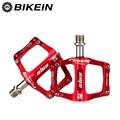 BIKEIN велосипедные сверхлегкие алюминиевые педали с ЧПУ MTB велосипедные Плоские Педали противоскользящие 3 подшипника многоцветные аксессуа...