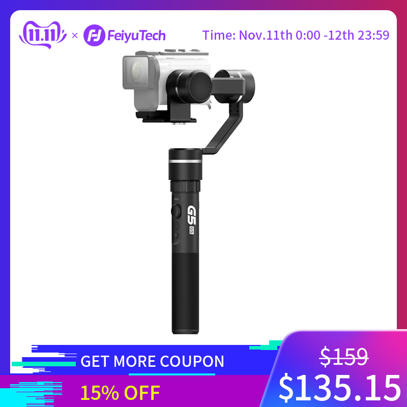FeiyuTech G5GS Handheld Gimbal 3 Axis Camera Stabilizer for Sony AS50 AS50R  X3000 X3000R Splash Proof 130g 200g Payload-in Handheld Gimbal from Consumer Electronics
