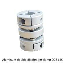 Máquina de gravação a laser, diafragma duplo eixo acoplador a disco acoplador elétrico d26mm l35mm parafuso servo motor de passo