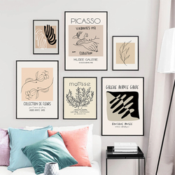 Retro Picasso Canvas Posters Wall Art Painting Matisse Abstract Plant Print Pictures For Modern Living Room Unique Home Decor