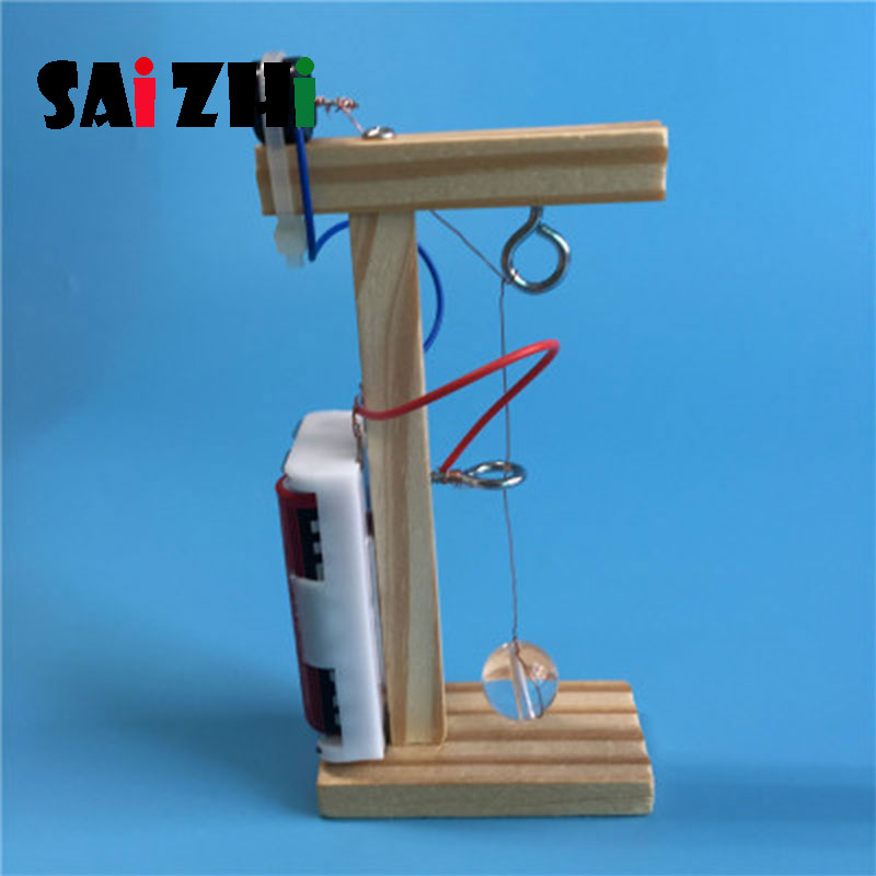 Saizhi Model Toy Diy Earthquake Alarm Developing Intelligent STEM Toy Physics Experiments Electric Toy Birthday Gift SZ3243