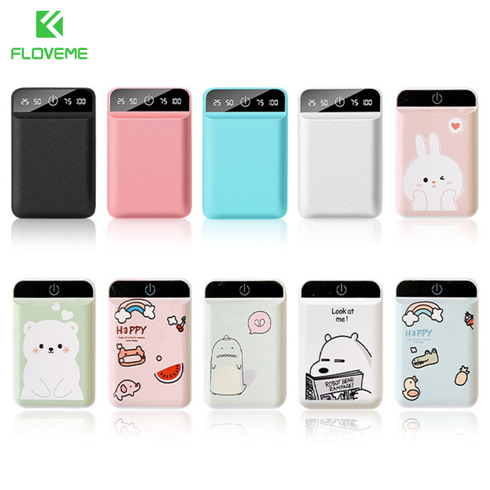 FLOVEME 4800mAh Power Bank Tragbare Nette cartoon Poverbank für iPhone Xiao mi mi Handy Batterie Power Dual <font><b>USB</b></font> ladung image