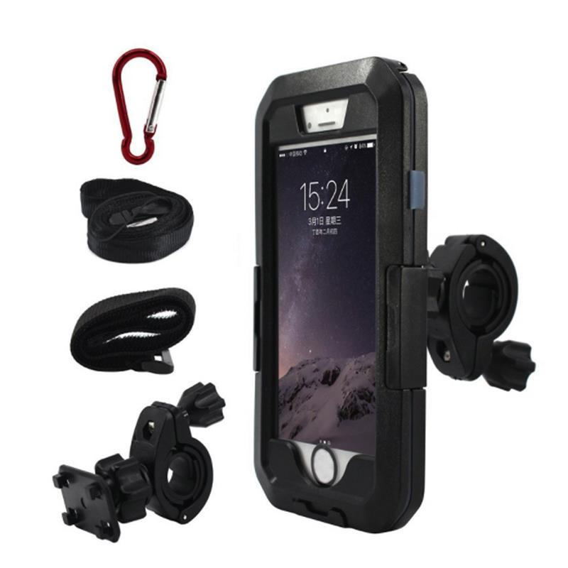 Waterproof Motorcycle Phone Holder For IPhoneX 8 Plus Bike GPS Holder Armor Phone Bag For Samsung Galaxy S9/S8 Support Telephone