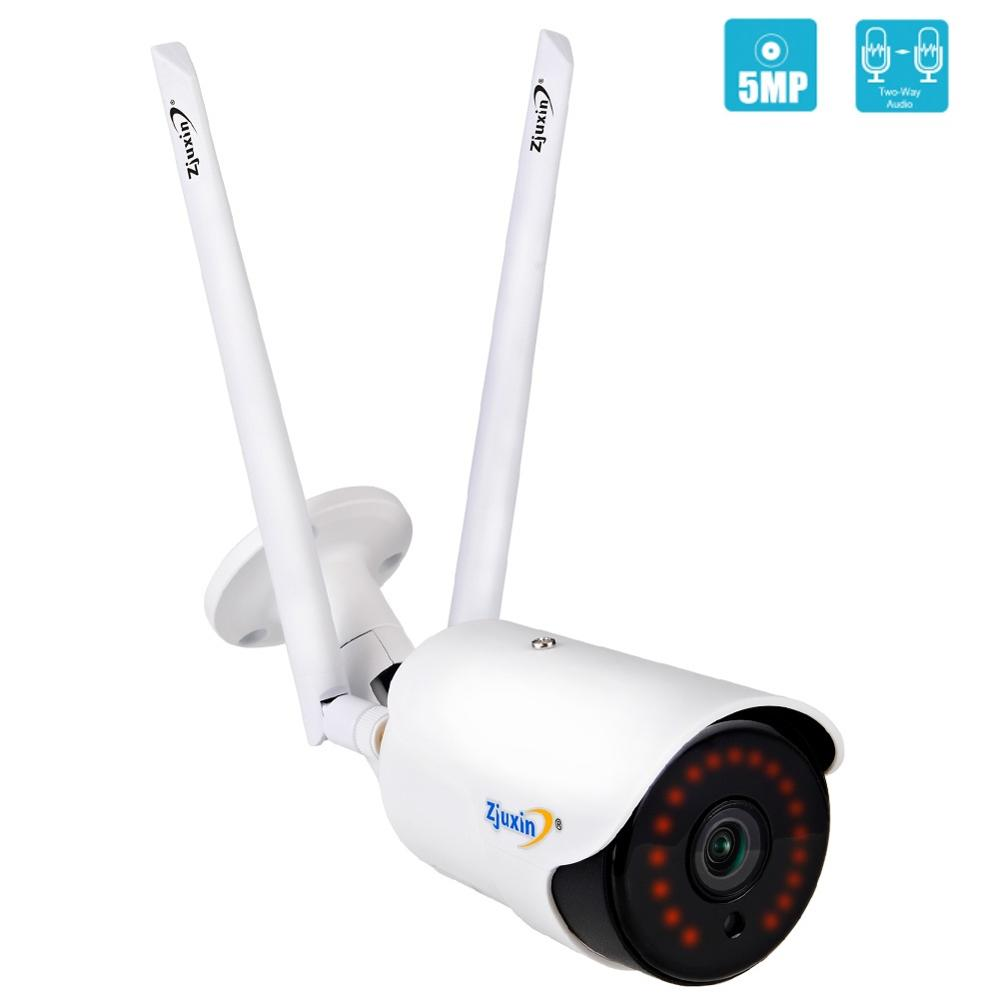 Zjuxin  5MP/1080P IP AI Camera HD Cloud Wireless Wifi Outdoor Weatherproof Infrared Night Vision Security Camera With TF Slot