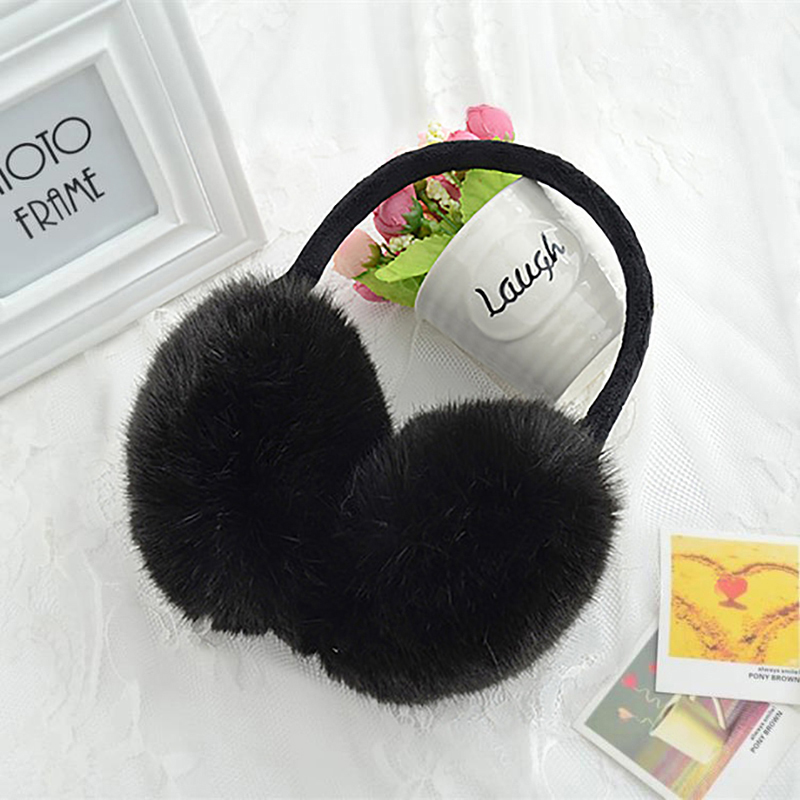 Fall Spring Rabbit Fur Earmuffs Ears Warm Essential Accessories Imitation Fur Comfortable Ears Cover