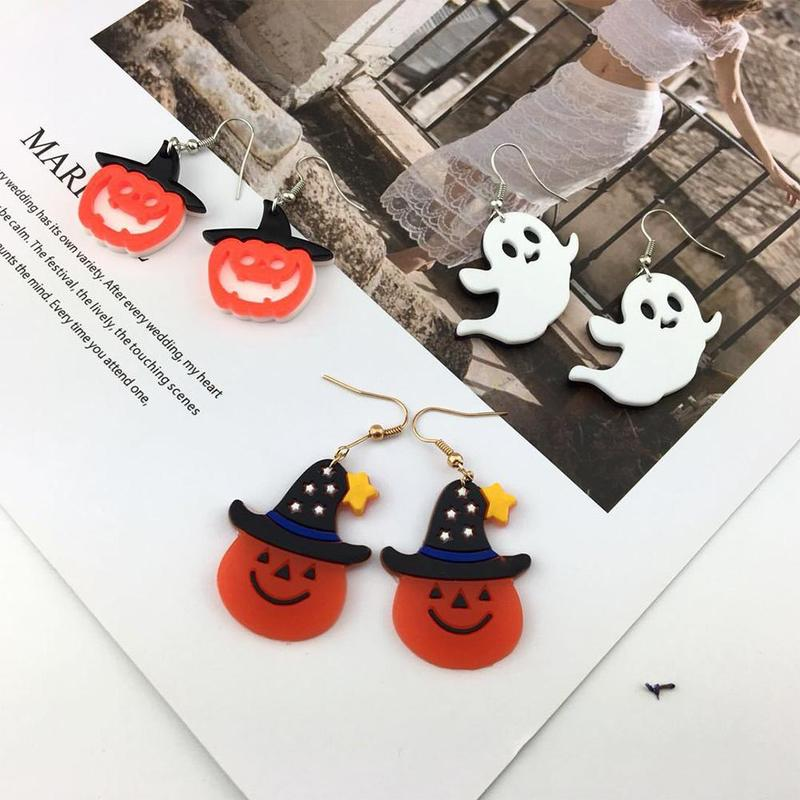 Halloween Earring Ghost Funny Trendy Simple Punk Cool