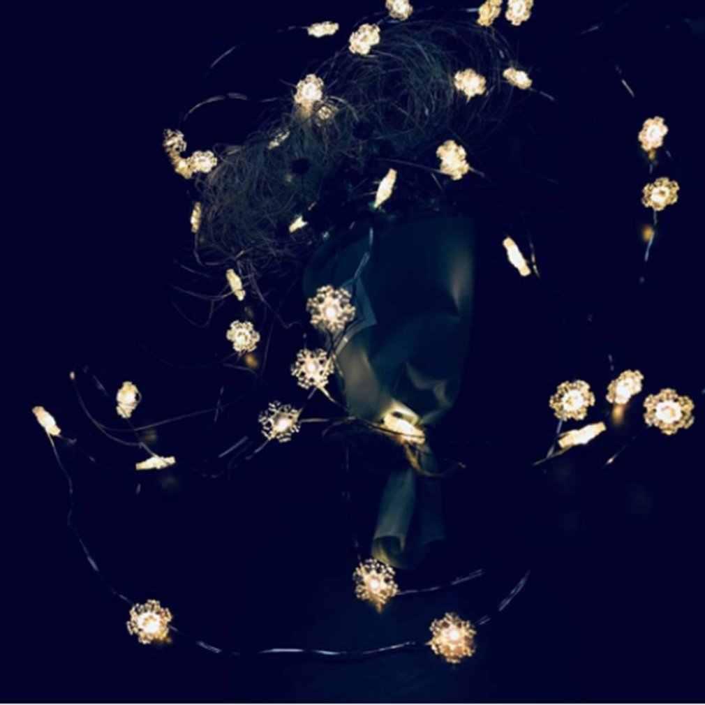 20 łańcuchy świetlne Led dekoracje świąteczne ananas Flamingo zielony kaktus przezroczysty kaktus kształt płatka śniegu kciuk bajkowe oświetlenie