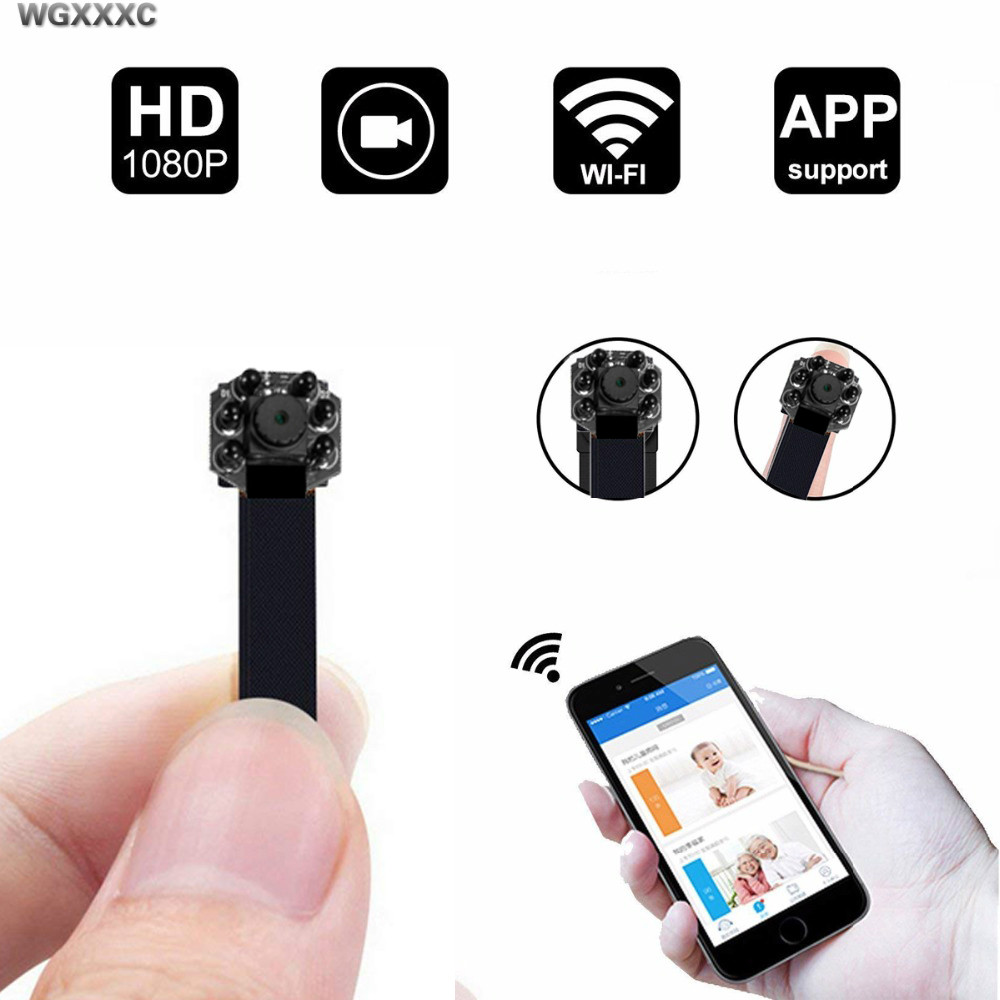 Remote Network Webcame HD <font><b>4K</b></font> Portable IP WiFi <font><b>Mini</b></font> <font><b>Camera</b></font> P2P Micro Camcorder Night Vision Car Video Recorder Support RemoteView image