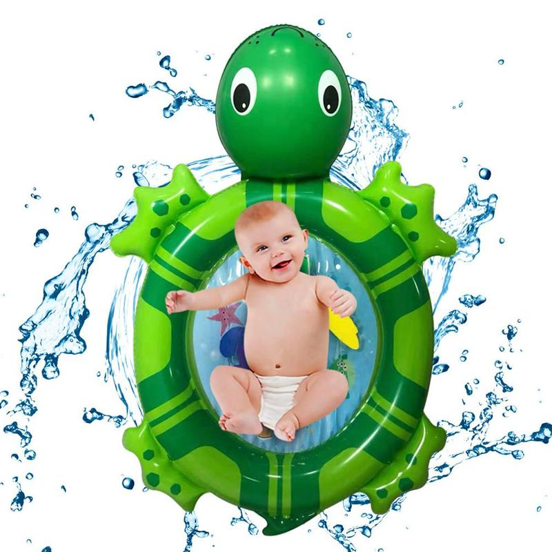 Children Outdoor Water Sports Turtle Inflatable Tapping Water Floating Pad Summer Swimming Pool Pad Cartoon Fun Safety Cushion