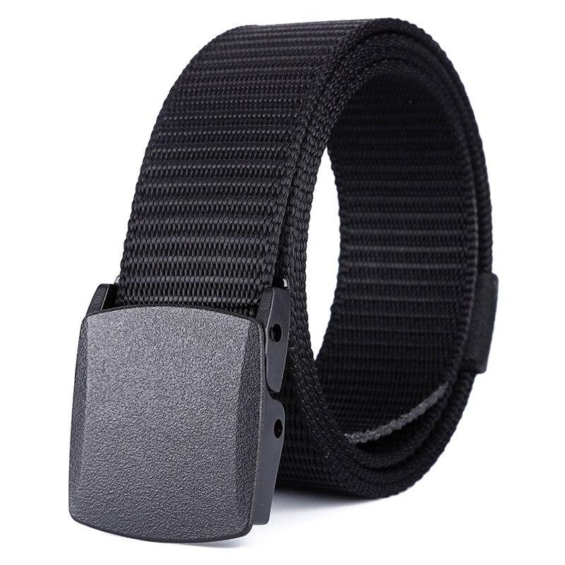 Men Female Belts Military Nylon Adjustable Men's Belt Men Outdoor Travel Tactical Waist Belt With Plastic Buckle Women 150cm