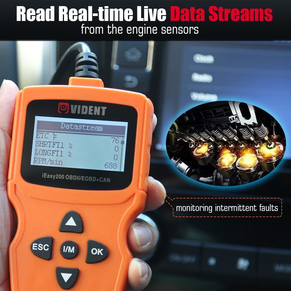 Original VIDENT iEasy200 OBDII/EOBD Code Reader OBDII Motor Scanner Mehrsprachige freies update Auto OBD2 Scanner Tool PK ELM327