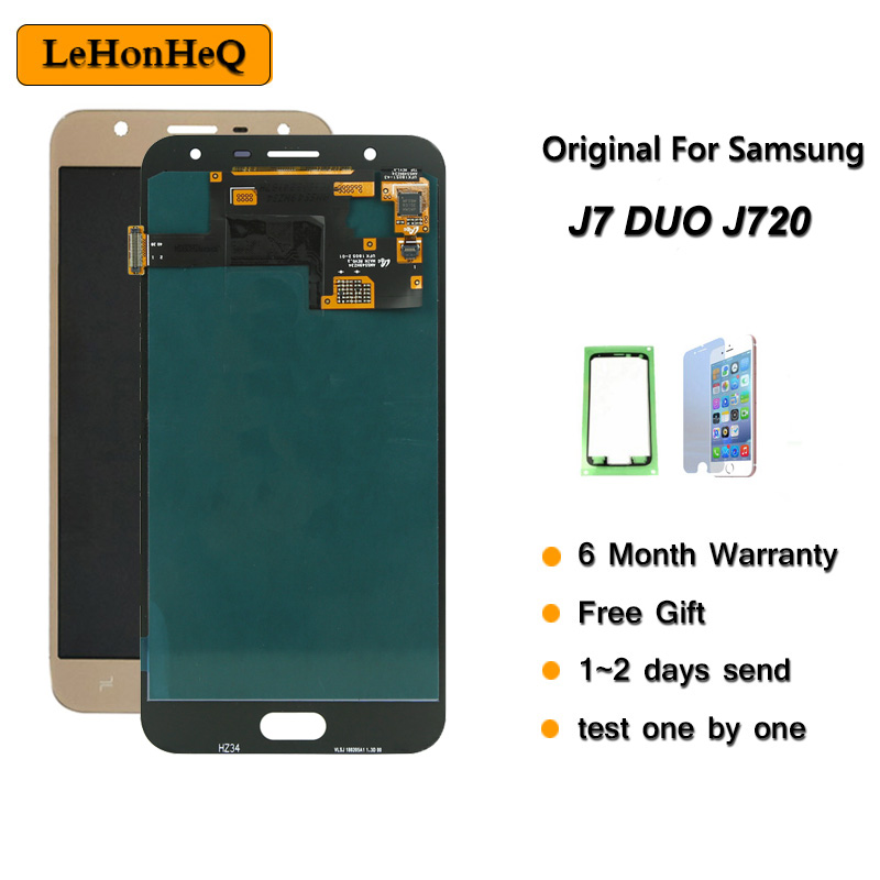 Original 5.5'' LCD for <font><b>Samsung</b></font> <font><b>Galaxy</b></font> <font><b>J7</b></font> Duo <font><b>2018</b></font> J720 J720F AMOLED LCD <font><b>Display</b></font> Touch Screen Digitizer Assembly For <font><b>samsung</b></font> J720 image