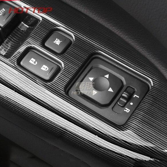 Black Door Armrest Window Switch Button Cover Panel Trim Sticker For Mitsubishi Outlander 2016 2017 2018