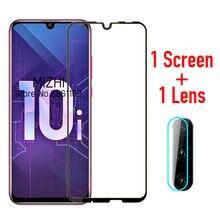 Vidro de proteção para huawei honor 10i temperado vidro em honer huwei 10 i lite honor10i HRY LX1T câmera lente protetor de tela filme