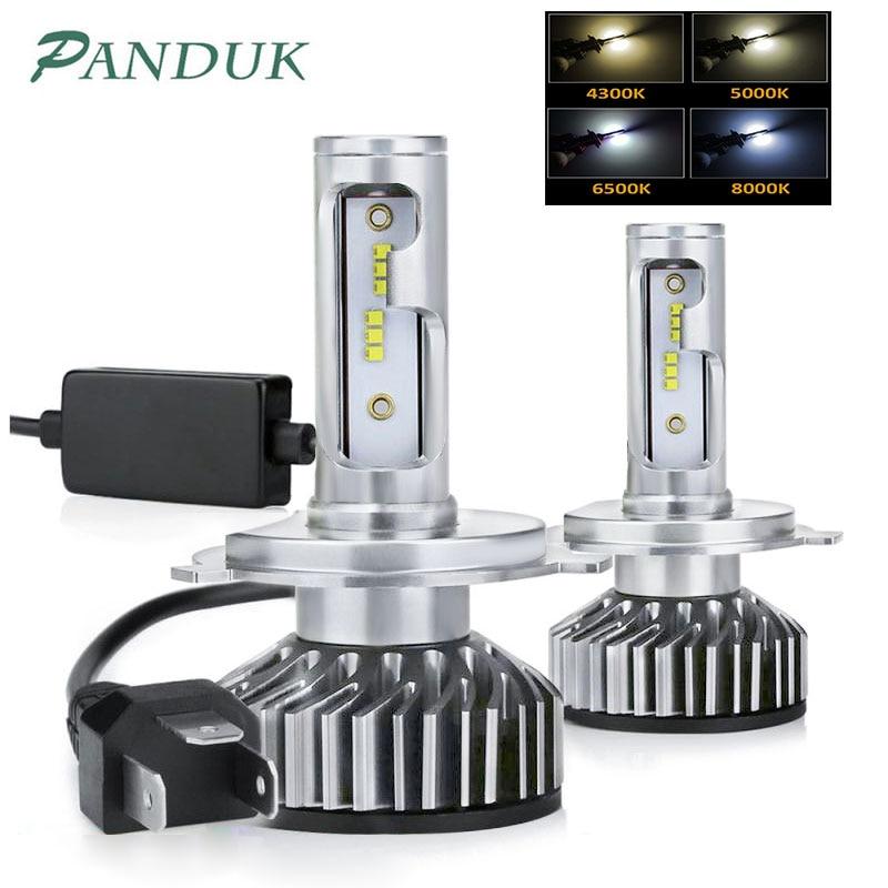 PAUNDUK Mini H4 H7 LED Car Headlight Canbus 12000LM ZES 4300K 6000K 8000K 12V H3 LED H1 9005 9006 HB4 H11 Auto Fog Light Bulb