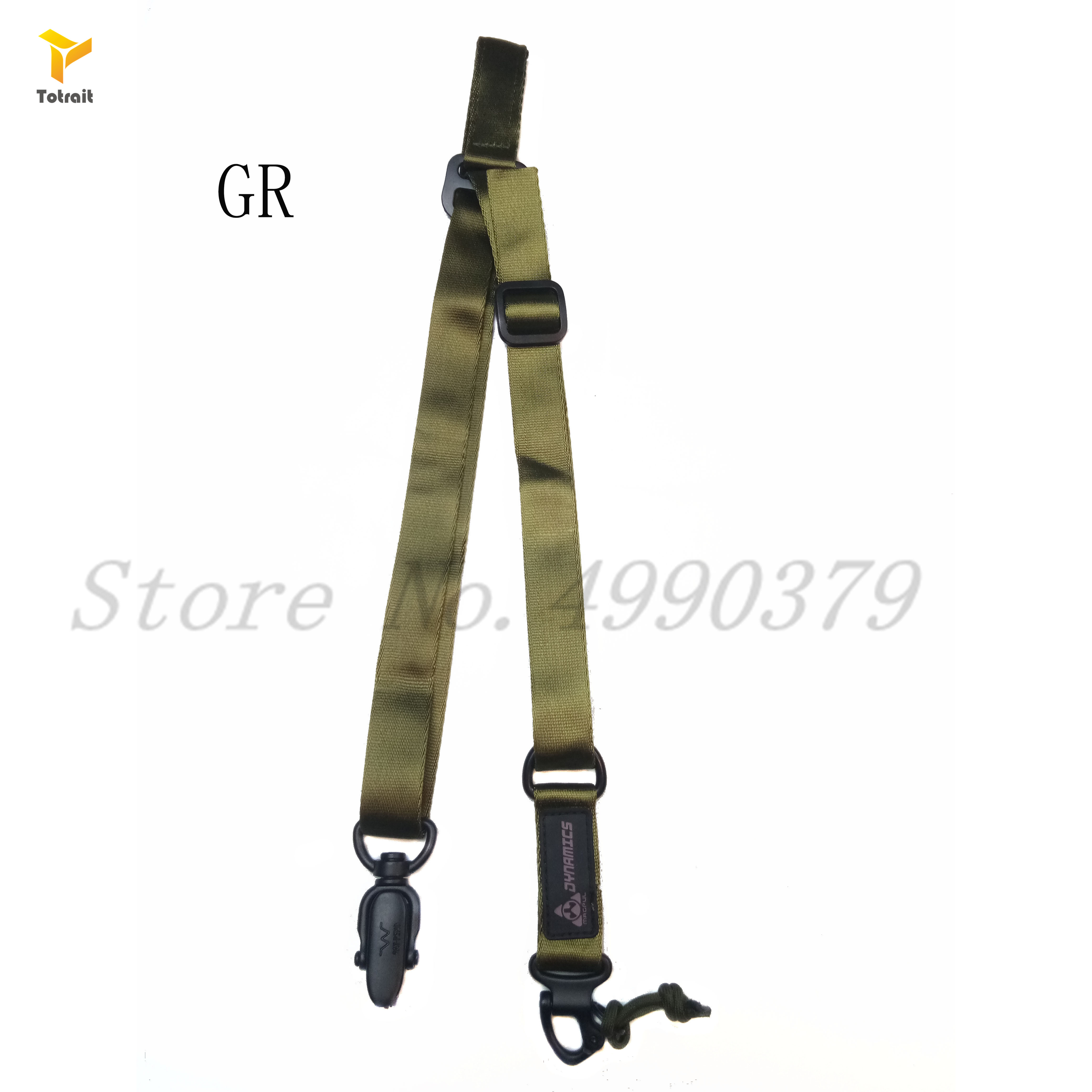 1 Pcs Tactical Multi-Mission Rifle Sling Gun Strap System Mount Set Suitable for MS2