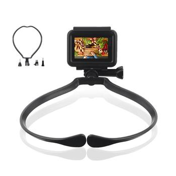 Szyi trzymać do montażu na smycz dla GoPro 8 7 6 5 4 3 + 3 2 1 Xiaomi yi 4K SJCAM sj4000 EKEN H9 r działania akcesoria do kamer sportowych tanie i dobre opinie NEELU GA888 Pakiet 1