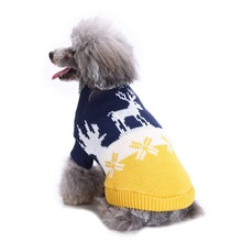 Dog clothes sweater striped turtleneck dog Christmas autumn and winter knit 2019 new