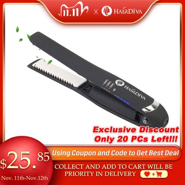 HairDiva Rechargeable Hair Straightener Small  Portable USB Recharging Flat Iron Cordless MINI Wiress Straightening Hair Iron