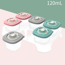 2021 New 6 Pcs/Set Baby Food Organizer Freezing Cubes Tray Pots Freezer Storage Container