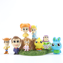 цена на 8pcs/set Toy Story 4 Mini  3-5cm And Figure Action Figure Toy Woody Buzz lightyear Jessie Ken Rex Toys Christmas gifts