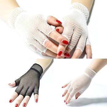 Damskie letnie rękawiczki krótkie pół palcowe rękawiczki modne wędkarskie rękawiczki siatkowe ultra-cienkie rękawiczki Cosplay koronkowe rękawiczki damskie rękawiczki nowość tanie i dobre opinie YJSFG HOUSE Stałe DO NADGARSTKA Dla osób dorosłych CN (pochodzenie) WOMEN NYLON moda