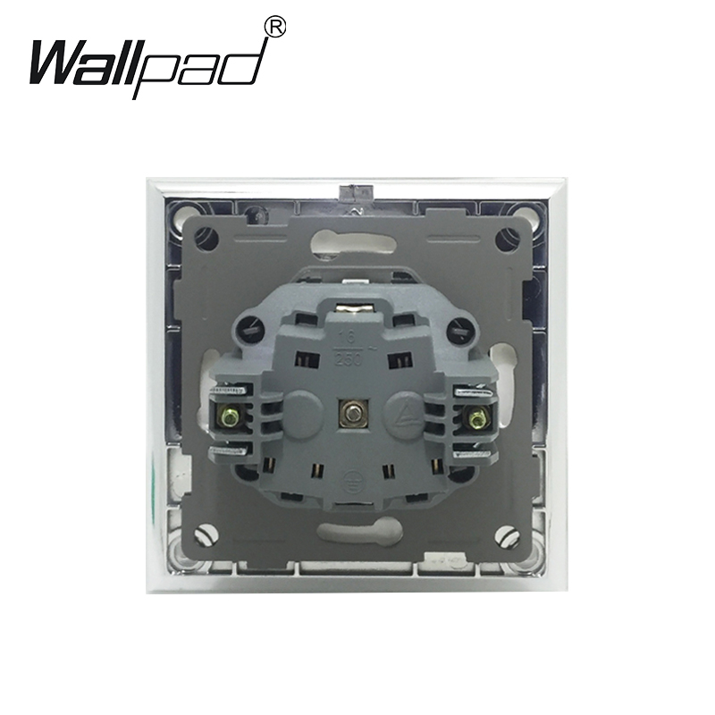 cheapest COSWALL EU Standard Wall Socket   Female TV Jack With Internet Computer Data RJ45 CAT5E Connector Tempered Crystal Glass Panel
