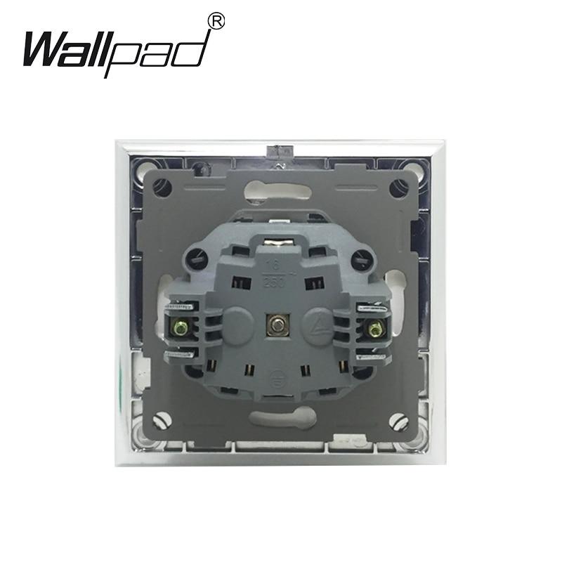cheapest EU Standard Socket with Claws Wallpad White Glass Panel Schuko EU European Standard Plug Wall Power Socket with Haken