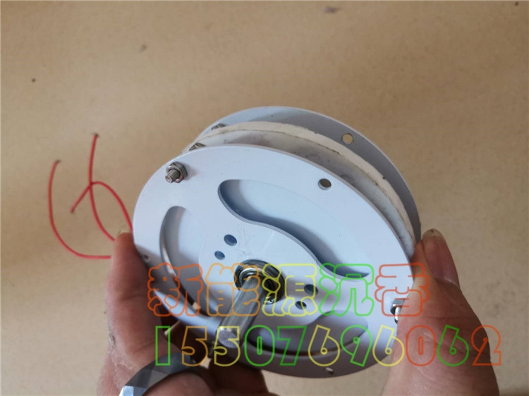 50W Mini Disc Coreless Three Phase Rare Earth Permanent Magnet Brushless Generator DIY Low Speed Low Resistance