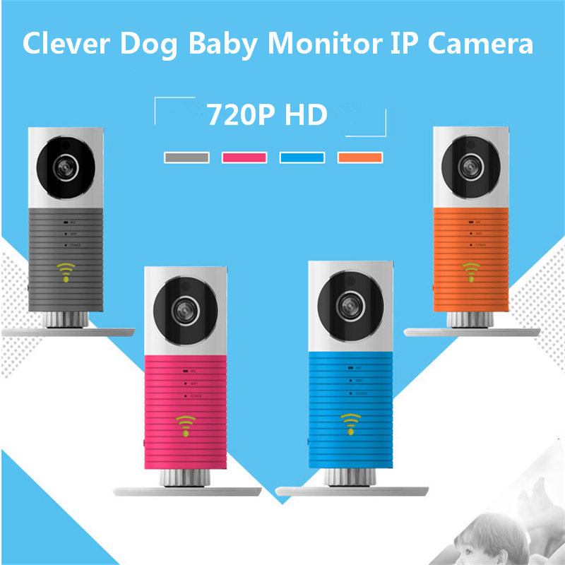 Hot Selling720P HD Clever Dog Wifi Home Security IP Camera Baby Monitor Intercom Smart Phone Audio Night Vision cam de seguridad