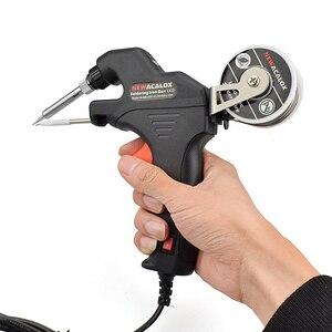Image 5 - NEWACALOX 50W EU/USไฟฟ้าชุดSolderingเหล็กความร้อนภายในปืนมือถือโดยอัตโนมัติส่งดีบุกเชื่อมสถานีซ่อมเครื่องมือ
