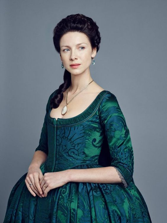 Outlander Claire Fraser Dress Cosplay Claire Costume Dress Georgian 18th Century Sack Back Dress Day Court Dress