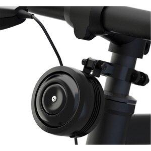 Image 2 - Usb de carregamento da bicicleta sino chifre elétrico alarme alto som para m365 motocicleta scooter mtb bicicleta guiador segurança anti roubo alarme