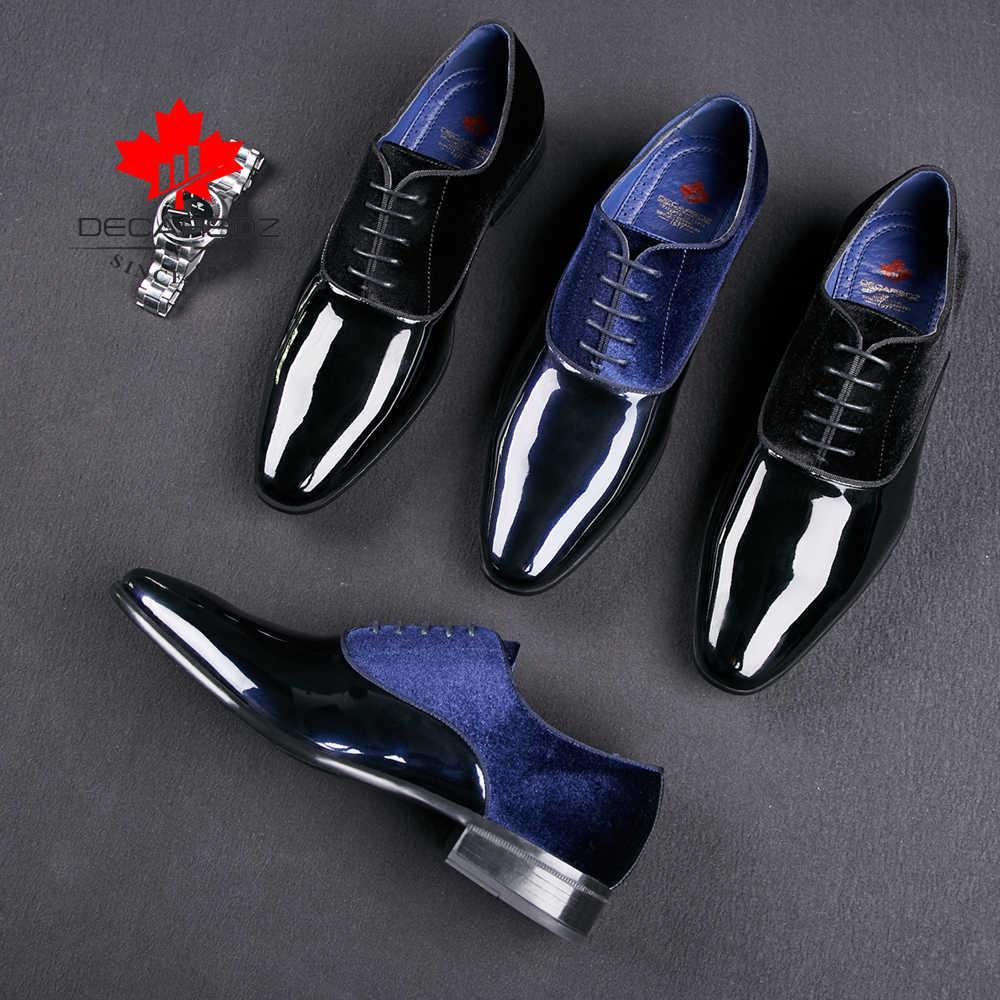 รองเท้า 2020 ฤดูใบไม้ผลิและฤดูใบไม้ร่วงแต่งงานรองเท้าผู้ชายใหม่รองเท้าหนังนิ่มสีดำแฟชั่นดีไซน์ชายหนังรองเท้า