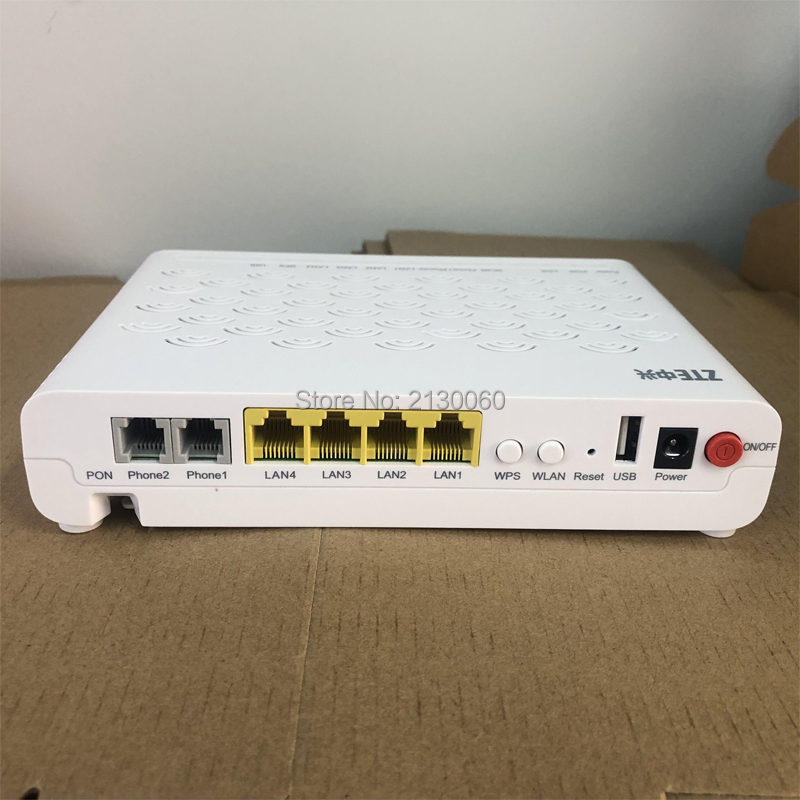 New 5.0 Version ZTE F460 ONT ZTE EPON ONU English Firmware 4FE+2Tel+USB+WIFI, ZTE Optical Network Terminal Free Shipping