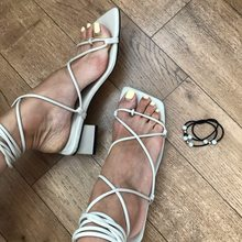 Fashion Women Sandals Cross Tied Gladiator Casual Sandal Low Thick Hee