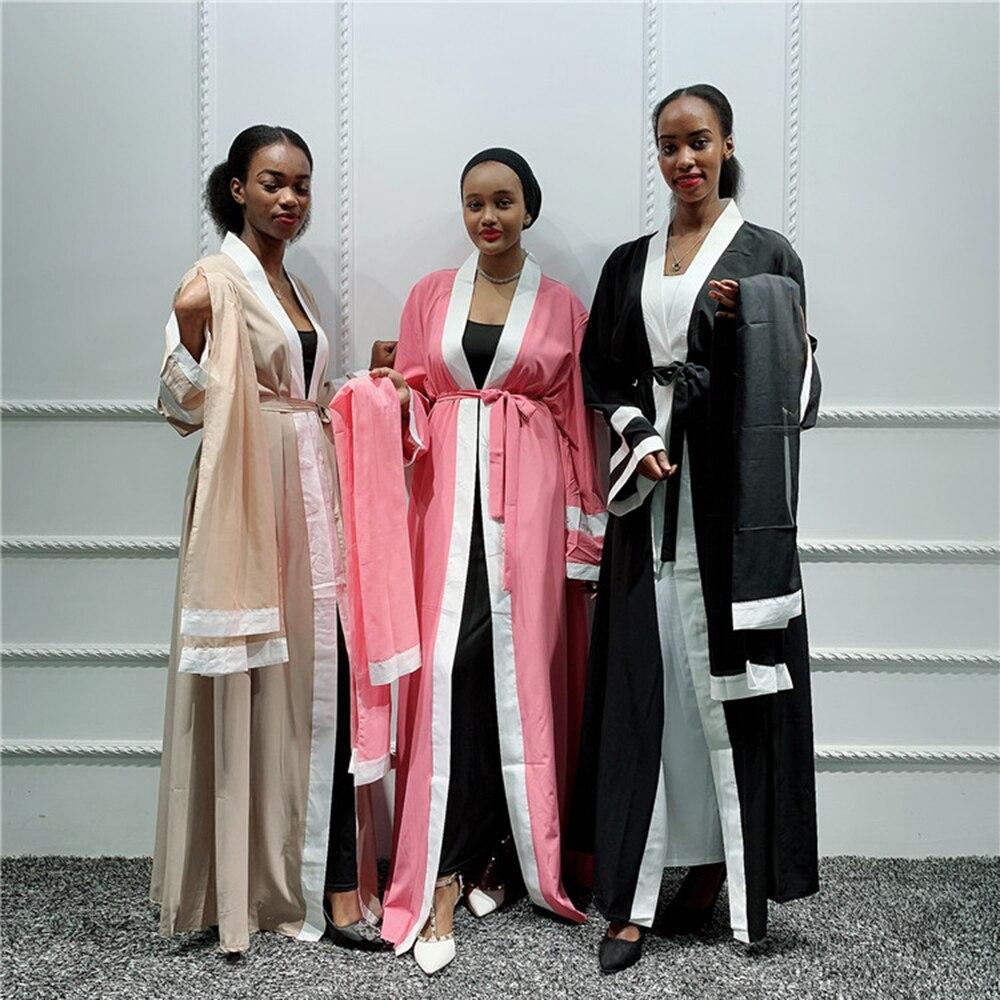 Muslim Dress Women Plain Abaya Kimono With Hijab Saudi Turkish Islamic Clothing Kaftan Dubai Caftan Qatar Robe Musulmane Femme
