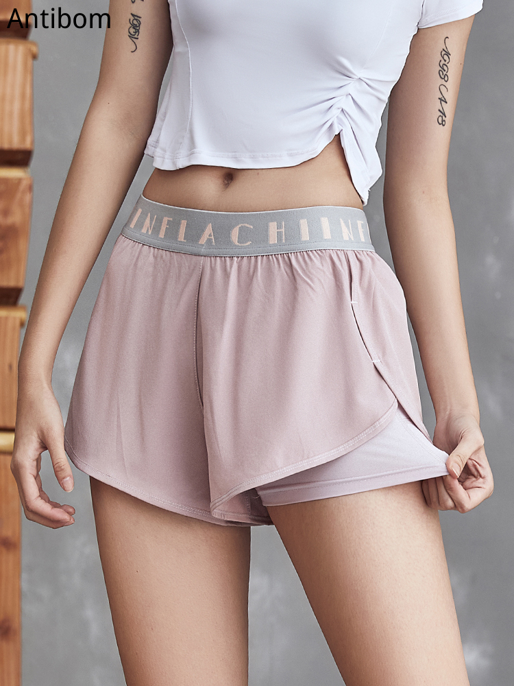 Women High Waist Soft Yoga Shorts Running Quick Dry Gym Loose Wide Leg Fitness Shorts Workout Gym Clothing