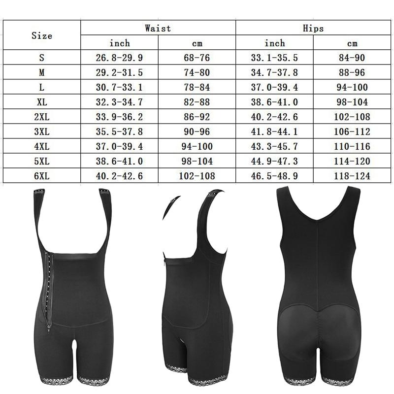 Image 5 - Women Open Bust Slimmer Shapewear Bodysuit Tummy Control Lifter Body Shaper Fajas Colombianas S 6XL 3 Colors Shapers UnderbustControl Panties   -