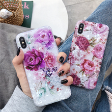 Luxury Rose Phone Case for Etui iPhone 11 Pro Max Soft Silicon Fashion Flower Back Cover for iPhone XS XR X Xsmax 6 6S 7 8 Plus new iphone case for iphone 11 for iphone11 pro max 5 8 inches 6 1 inches 6 8 inches 6 6s 7 8 plus ix xr max x fashion back cover