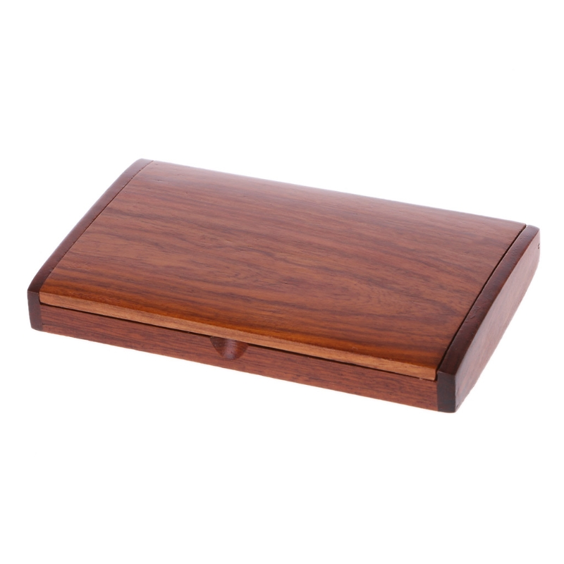 Wooden ID Credit Card Holder Protector Men Women Wallet Cards Storage Case