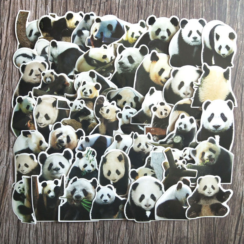 50Pcs Cute Panda Stickers For Suitcase Skateboard Waterproof Laptop Luggage Fridge Phone Car Styling DIY Decal Sticker