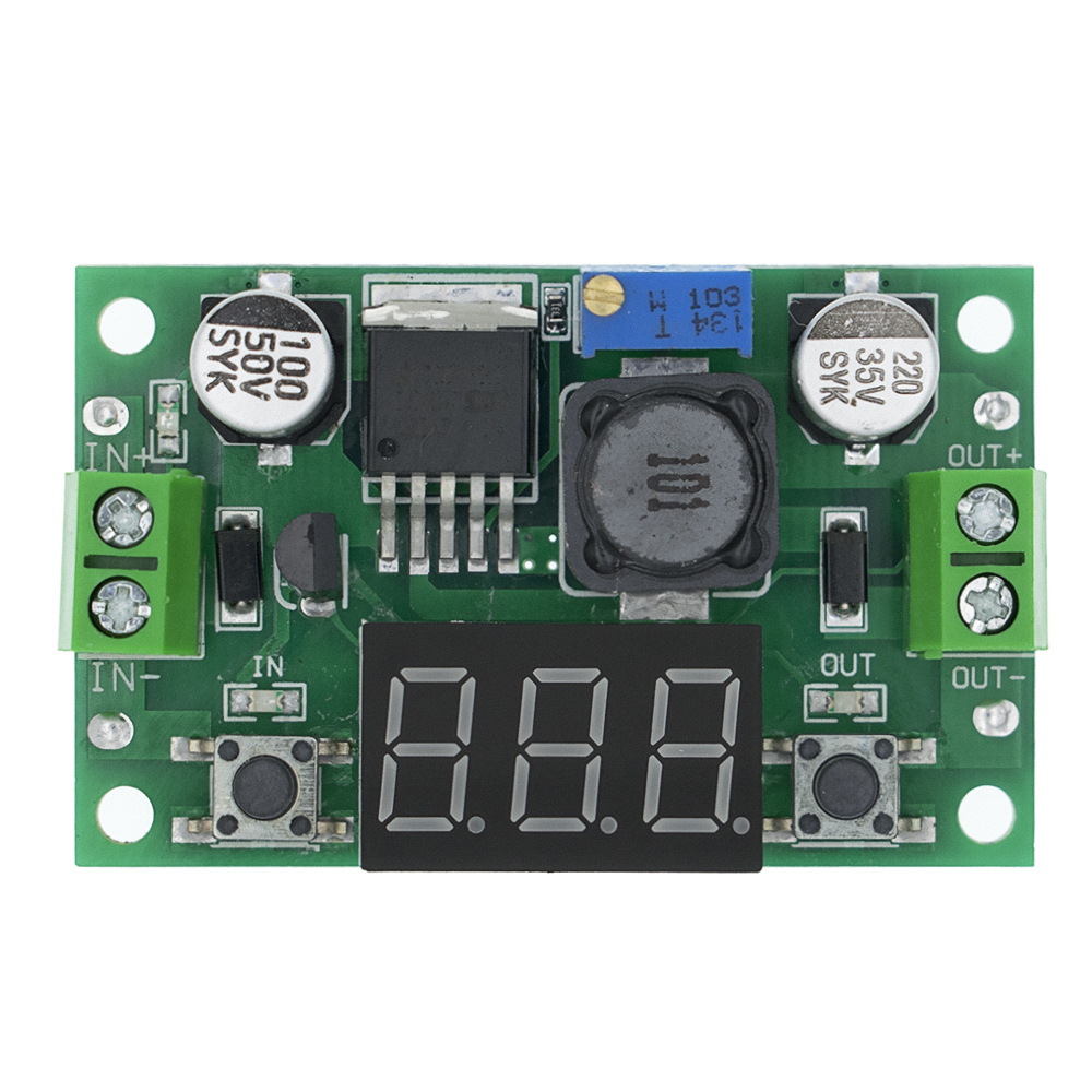 LM2596 BUCK 3A DC-DC Voltage Adjustable Step-Down Power Module + Red LED Voltmeter LM2596S-ADJ 4-40V To 3.3V/5V/9V/12V/24V