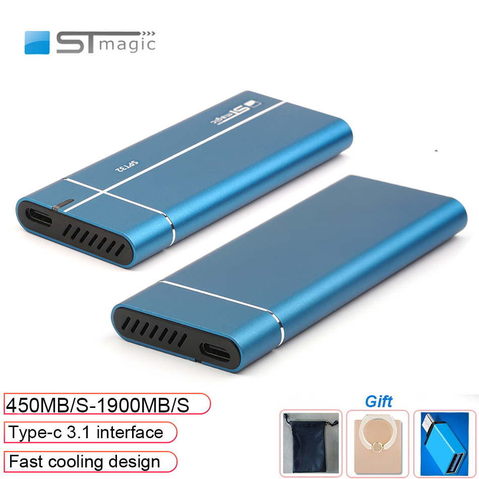 Stmagic Spt32 fast cooling metal portable ssd 128GB 285GB 512GB hd externo 1tb external hard drive for PC laptop smartphone